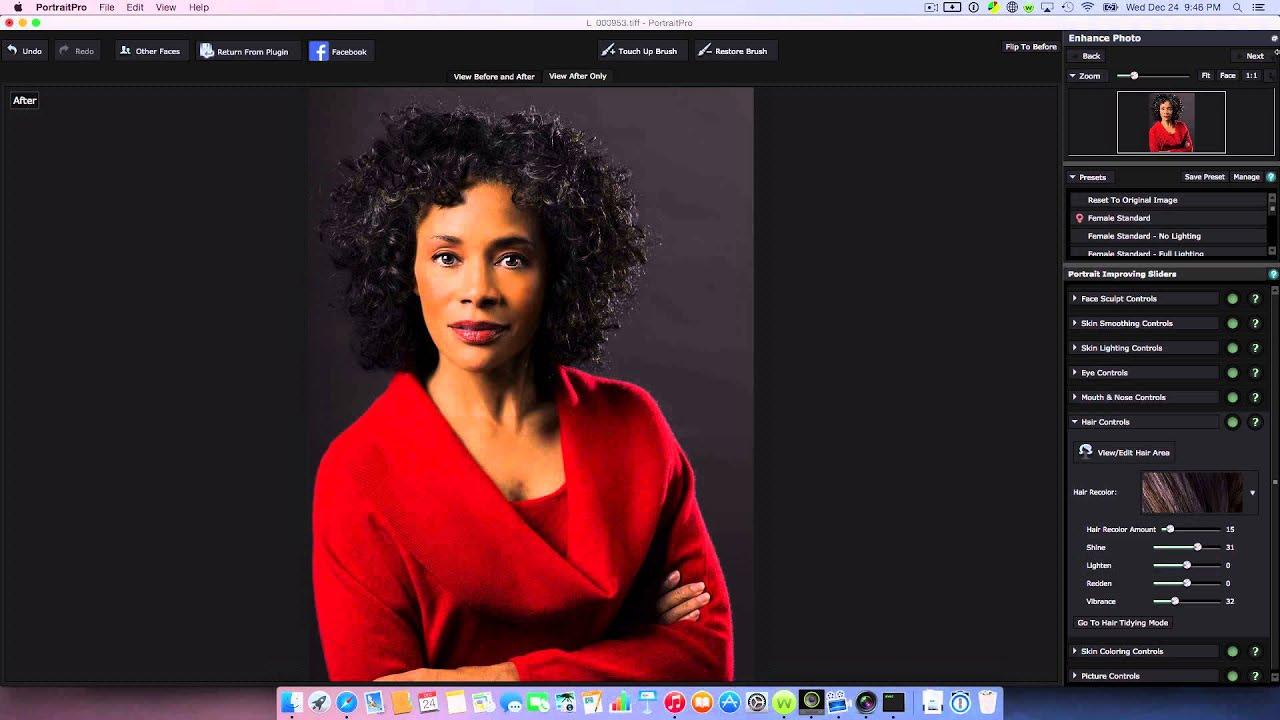 Retouch portrait photos for free Face retouching online Free photo portrait software