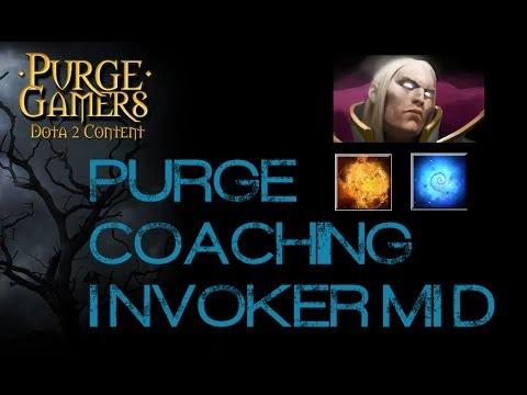 Dota 2 Purge coaching Invoker