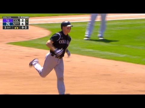 COL@NYY: Hundley launches a three-run homer to center