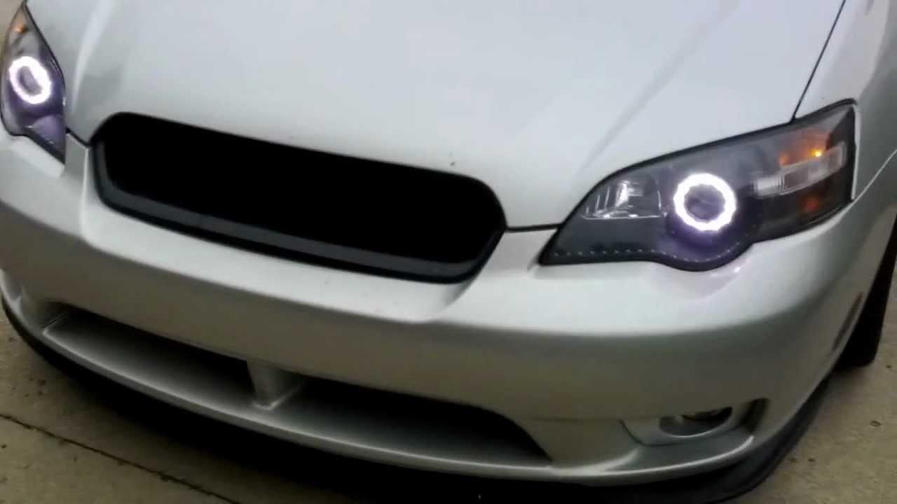 2005 subaru legacy gt custom led halo headlights youtube