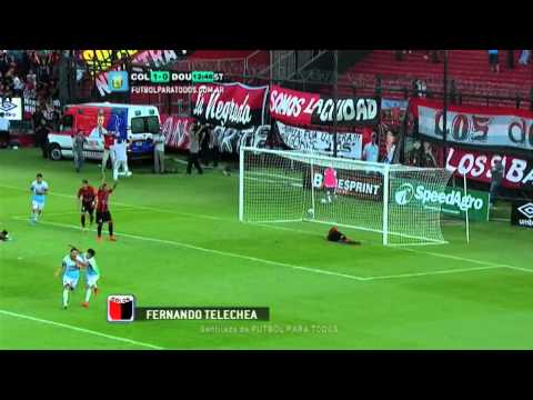 Gol de Telechea. Colón 1 - Douglas Haig 0. Fecha 10. Torneo Primera División 2014. FPT.