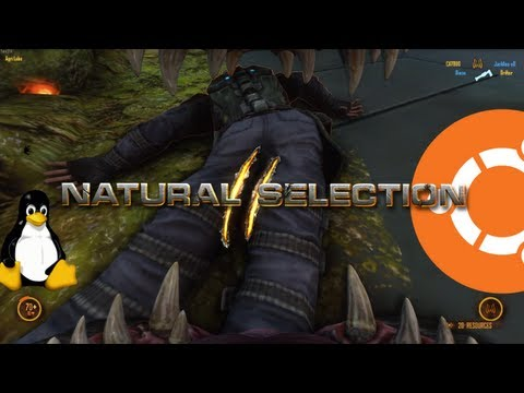 Natural Selection 2 Gameplay On Ubuntu Linux (Native)