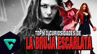 Top: 10 Curiosidades De La Bruja Escarlata | Scarlet Witch/Wanda | Civil War/Avengers/Marvel