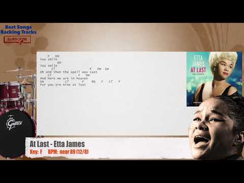 At Last - Etta James Drums Backing Track with chords and lyrics