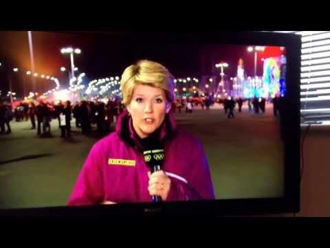 Clare Balding's gay dig at Putin. Sochi 2014