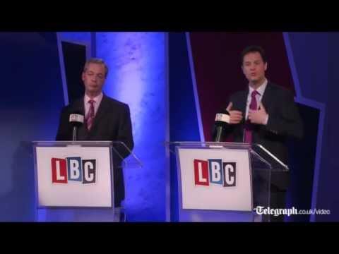 Highlights: Nick Clegg and Nigel Farage debate the EU