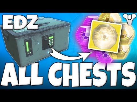 Destiny 2 - How to Get ALL EDZ CAYDE-6 TREASURE CHESTS! 3rd October 2017 European Deadzone Locations