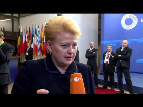European Council - Departure doorstep by Dalia GRYBAUSKAITE, Lithuanian President