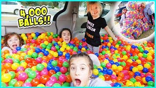 WE TURNED OUR MINIVAN INTO A BALL PIT!!