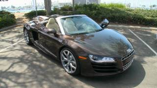 2011 Audi R8 Spyder natural footage
