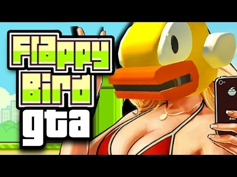 FLAPPY BIRD Meets GTA 4! (Grand Theft Auto IV Mod)