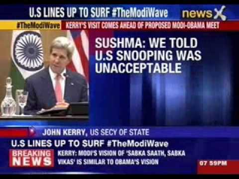 US Secretary of State John Kerry and Sushma Swaraj  address press conference