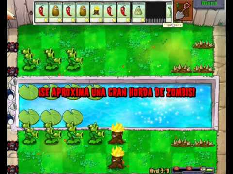 plantas vs zombis aventura 3-10