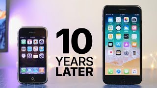 First iPhone 10 Years Later (iOS 1.0 vs 11.0)