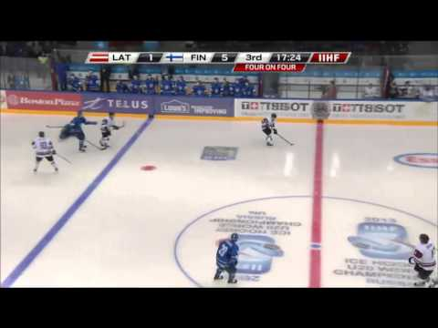 Latvia-Finland 1-5 - 2013 IIHF Ice Hockey U20 World Championship