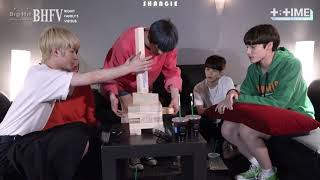 [VIETSUB] [T:TIME] TOMORROW X TOGETHER Practicing jenga game! - TXT (투모로우바이투게더)