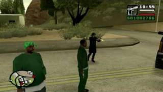 GTA San Andreas Serial Killer shooting in the cop