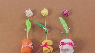 Manualidades para La Madre   Tulipán con Tela Reciclada   Hazlo tu mismo 