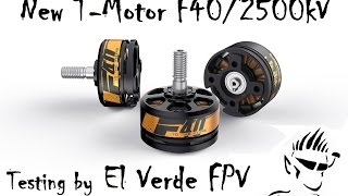 Amazing New T-Motor F40 / 2500kv Test flight!!