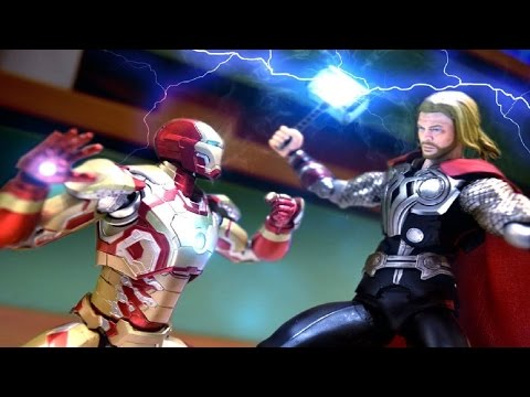 Iron Man VS Thor Stop Motion fight