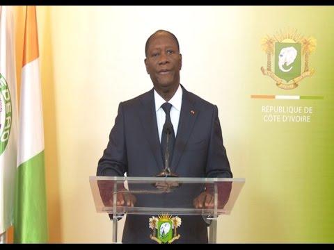 Attaques de Grand-Bassam : Le Président ivoirien Alassane Ouattara s'adresse à la Nation