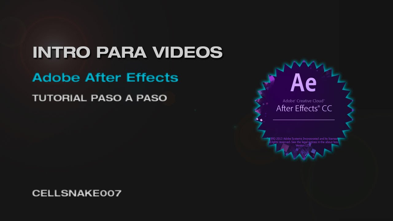 Tutorial adobe after effects cs5 crear intro animado for After effects youtube intro