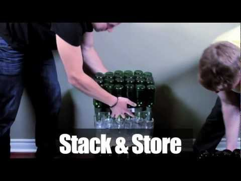 HomeBrew Beer Bottle Drainer - FastRack (Beer Bottle Tree Replacement)