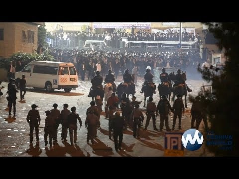 Tens of Thousands Protest IDF Draft in Jerusalem [HD] |     