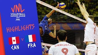 CANADA vs. FRANCE - Highlights Men | Week 5 | Volleyball Nations League 2019