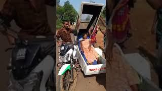 Bajaj V15 converted into Ambulance