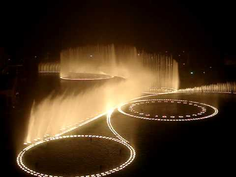Dubai Fountain at Burj Dubai @ seen fron TGI Fridays
