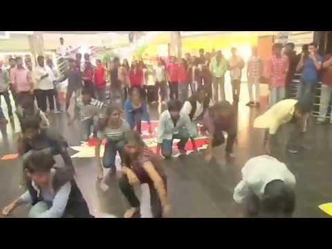 mahaveer college students flash mob in city centre, 2014