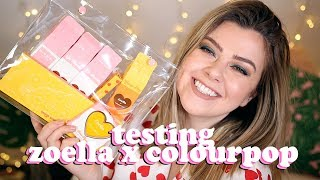 AVERAGE GIRL TRIES ZOELLA X COLOURPOP BRUNCH DATE - TESTING + FIRST IMPRESSIONS | LUCY WOOD