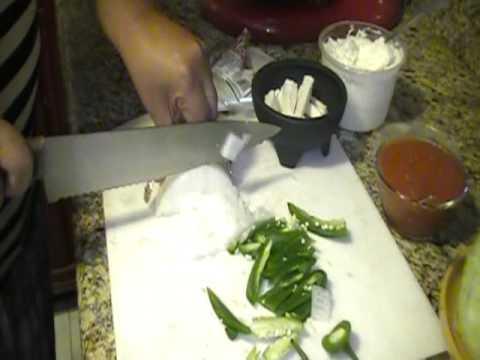 Tacos de  Rajas con Requeson