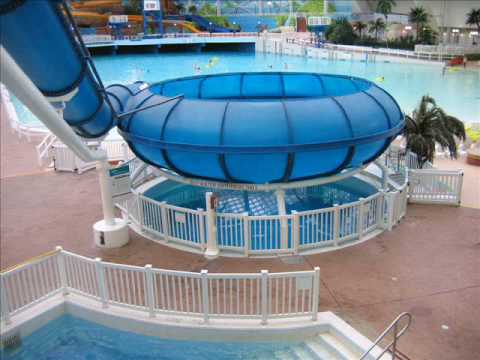 Tropical typhoon waterslide pov world waterpark west - Swimming pools with slides north west ...