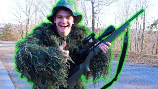 Ghillie Suit Squirrel Hunting! *BAD IDEA*