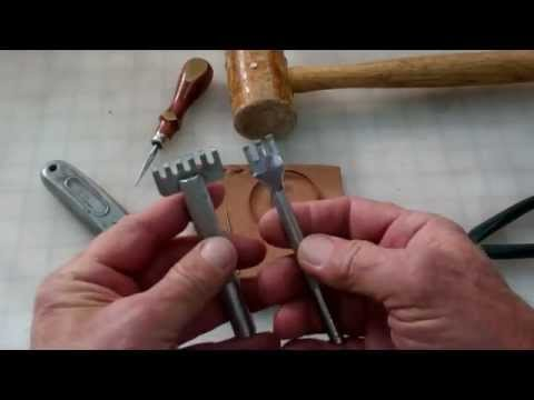 "Leather Lacing demo: ""The Buckstitch"""