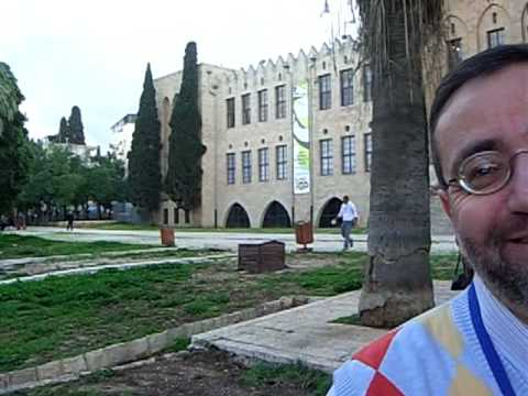 Einstein's Palm Trees planted 1923 while visiting the Technion, Israel- (Palestine).  Madatech -2