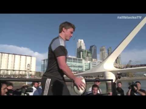All Blacks hold Kicking Contest in Buenos Aires | Rugby Championship Video - All Blacks hold Kicking