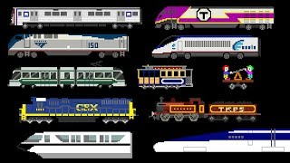 Railway Vehicles - Trains and Subways - The Kids' Picture Show (Fun & Educational Learning Video)