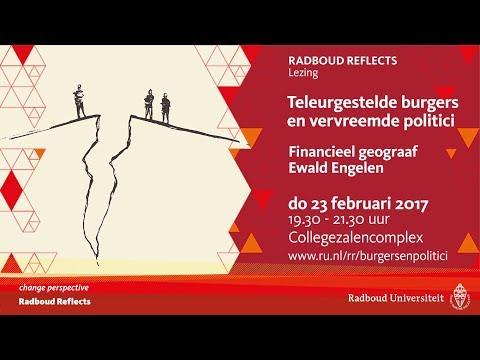 Teleurgestelde burgers en vervreemde politici | Lezing door financieel geograaf Ewald Engelen