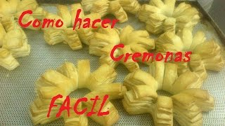 COMO HACER CREMONAS (PANIFICADOS) - HOW TO CREMONES (BAKERY)