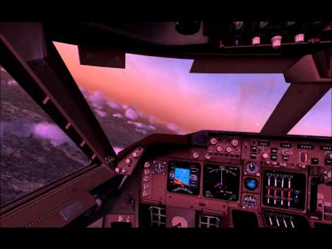 FSX Malaysia Airlines 747-8 Cockpit Take Off Zurich