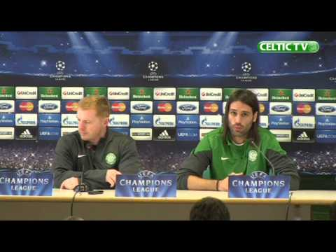 Celtic FC - Georgios Samaras pre-match media conference, AC Milan.