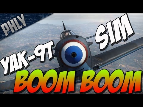 War Thunder Gameplay! YAK-9T Sim - Boom Goes The 37mm