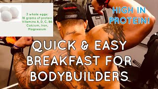 2 MINUTE EGG BREAKFAST FOR BODYBUILDERS |  QUICK & EASY | HIGH IN PROTEIN