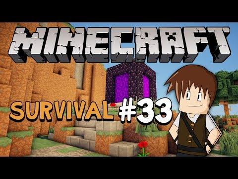Minecraft Survival #33: O novo portal do Nether!