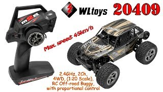 WLtoys 20409 2.4GHz, 2Ch, 4WD, (1:20 Scale), RC Off-road Buggy, with proportional control (RTR)