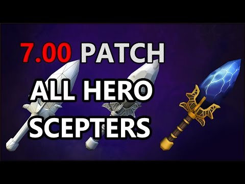 Dota 2 NEW Aghanim's scepter - ALL HEROES !!!