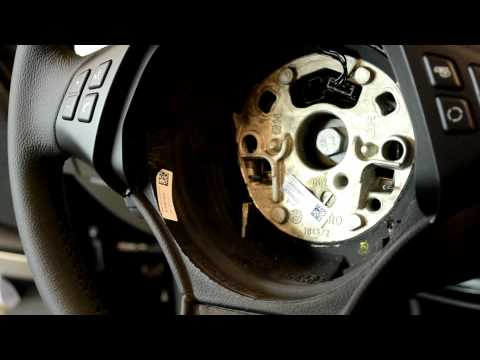 BMW E90 3 series airbag & steering wheel removal